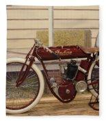 Antique Indian Motorcycle Red...   # Fleece Blanket