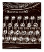 Antique Keyboard - Sepia Fleece Blanket