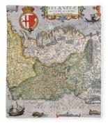 Antique Map Of Ireland Fleece Blanket