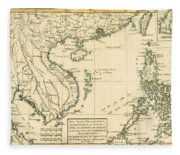 Antique Map Of South East Asia Fleece Blanket