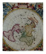 Antique Map Vintage Very Stylish Piece Fleece Blanket