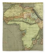 Antique Maps - Old Cartographic Maps - Antique Map Of Africa Fleece Blanket