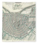 Antique Maps Old Cartographic Maps Antique Map Of Amsterdam Tote - Amsterdam old map