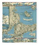 Antique Maps - Old Cartographic Maps - Antique Map Of Cape Cod, Massachusetts, 1945 Fleece Blanket