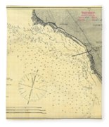 Antique Maps - Old Cartographic Maps - Antique Map Of Lompoc Landing, California, 1888 Fleece Blanket