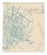 Antique Maps - Old Cartographic Maps - Antique Map Of Travis County, Texas, 1936 Fleece Blanket