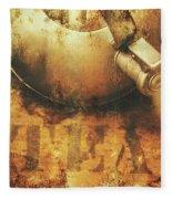 Antique Old Tea Metal Sign. Rusted Drinks Artwork Fleece Blanket