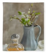 Antique Perfume Bottle Fleece Blanket