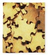 Antique Puzzle Of Missing Links Fleece Blanket
