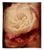Antique Rose - In Full Bloom Fleece Blanket