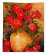 Antique Roses Fleece Blanket