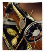 Antique Singer Sewing Machine 3 Fleece Blanket