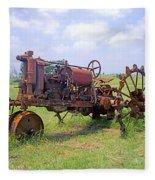 Antique Tractor  Fleece Blanket