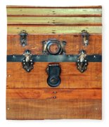 Antique Trunk Fleece Blanket