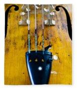 Antique Violin Fleece Blanket