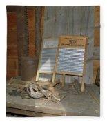 Antique Wash Boards Fleece Blanket