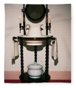 Antique Wash Stand Fleece Blanket