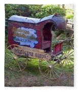 Antique Wine Wagon Fleece Blanket