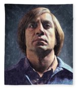 Anton Chigurh Fleece Blanket