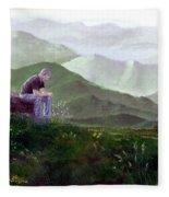 Antonio Atop La Rocca De Monte Calvo Fleece Blanket