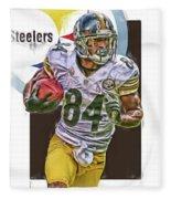Antonio Brown Pittsburgh Steelers Oil Art 4  Fleece Blanket