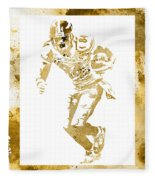 Antonio Brown Pittsburgh Steelers Water Color Art 4 Fleece Blanket