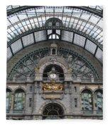 Antwerp Train Fleece Blanket
