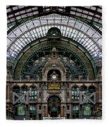 Antwerp Train Terminal Fleece Blanket