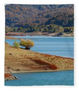 Aoos Lake Shore In Epirus, Greece Fleece Blanket