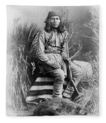 Apache Leader, 1885 Fleece Blanket