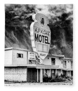 Apache Motel Tucumcari Fleece Blanket