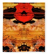 Apache Picture Jasper Fleece Blanket