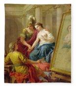 Apelles In Love With The Mistress Of Alexander Fleece Blanket