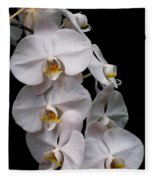 Aphrodite - White Orchid Fleece Blanket
