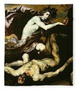 Apollo And Marsyas Fleece Blanket