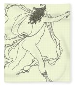 Apollo Pursuing Daphne Fleece Blanket
