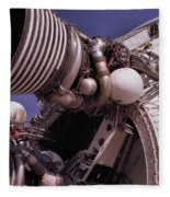 Apollo Rocket Engine Fleece Blanket