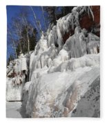 Apostle Islands Cliffs Fleece Blanket
