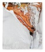 Apostle Islands Frozen Canyon Fleece Blanket