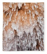 Apostle Islands Icicle Cave Fleece Blanket