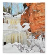Apostle Islands National Lakeshore Waterfall Portrait Fleece Blanket