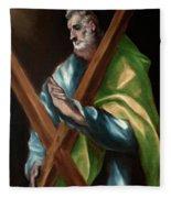 Apostle Saint Andrew Fleece Blanket