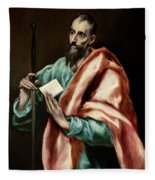 Apostle Saint Paul Fleece Blanket