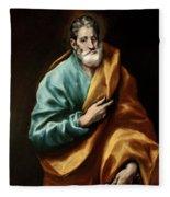 Apostle Saint Peter Fleece Blanket