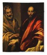 Apostles Peter And Paul 1592 Fleece Blanket