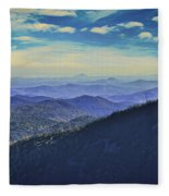 Appalachia Blue Fleece Blanket