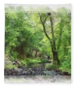Appalachian Creek Fleece Blanket