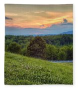 Appalachian Evening Fleece Blanket