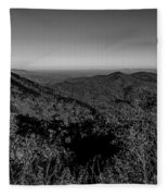 Appalachian Mountains From Mount Mitchell, The Highest Point In  Fleece Blanket