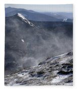 Appalachian Trail - Franconia Ridge-white Mountains New Hampshire Fleece Blanket
